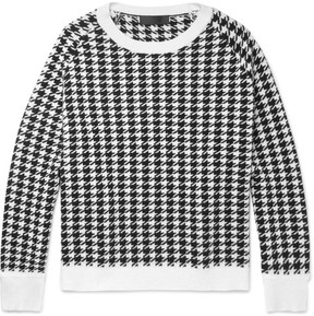 Haider Ackermann Oversized Houndstooth Wool Sweater