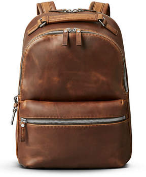 Shinola Runwell Leather Backpack, Medium Brown