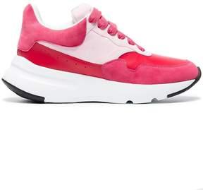 Alexander McQueen red Oversized Runner leather sneakers