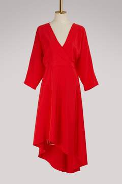 Diane von Furstenberg Asymmetrical dress with long sleeves