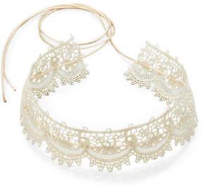 Fallon Scalloped Crystal Lace Choker Necklace