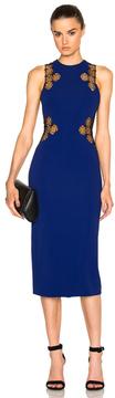 David Koma Lace Back Dress in Blue.