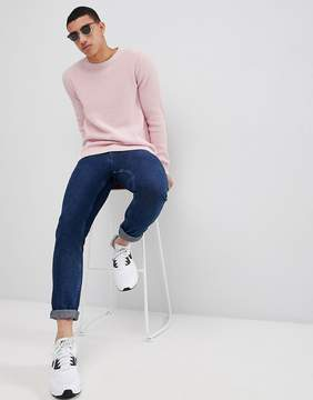 Pull&Bear Knitted Sweater In Pink