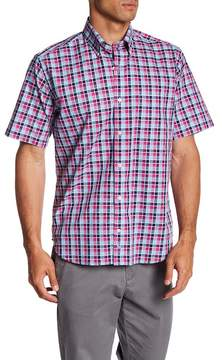 Tailorbyrd Short Sleeve Pattern Print Classic Fit Woven Shirt