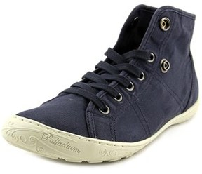 Palladium Gaetane Twl Women Round Toe Canvas Blue Sneakers.
