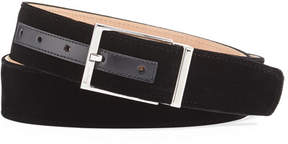 Salvatore Ferragamo Men's Square-Buckle Formal Velvet Belt