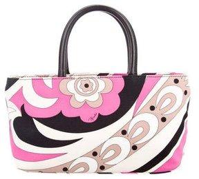 Emilio Pucci Printed Canvas Handle Bag