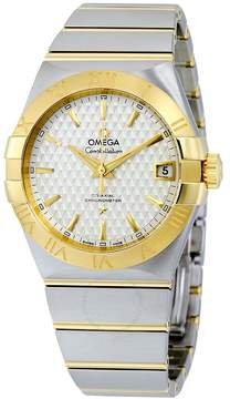 Omega Constellation Silver Griffes Dial Steel and 18K Yellow Gold Automatic Men's Watch