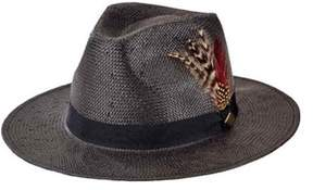 San Diego Hat Company Men's Woven Paper Fedora With Feathers Sdh3015.