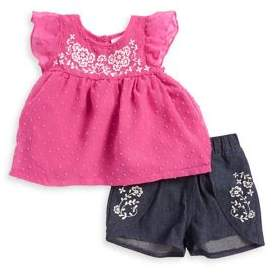 Nannette Little Girl's Two-Piece Top and Cotton Shorts Set