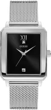 GUESS Men's Diamond-Accent Stainless Steel Mesh Bracelet Watch 40x35.5mm