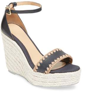 Manebi Women's Leather Wedge Sandal
