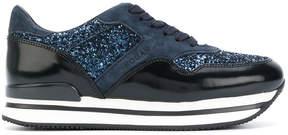 Hogan glitter effect sneakers