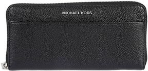 Michael Kors Mercer Zip Around Wallet - NERO/ARGENTO - STYLE