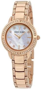 Anne Klein Swarovski Crystals White Mother of Pearl Dial Ladies Watch