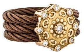 Charriol 18K Celtique Rose Diamond Ring