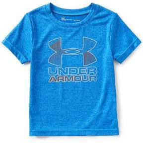 Under Armour Little Boys 2T-7 Big Logo Hybrid Short-Sleeve Tee