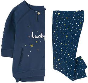 3 Pommes Graphic sweatshirt dress and leggings