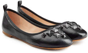 Marc Jacobs Embellished Leather Ballerinas