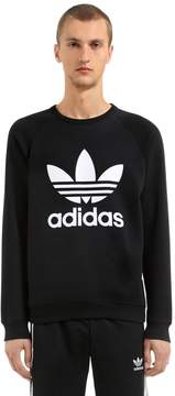 adidas Trefoil Printed Cotton Sweatshirt