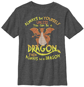 Fifth Sun Charcoal Heather 'Be a Dragon' Tee - Boys