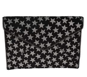 Rebecca Minkoff Star Print Envelope Clutch - BLACK - STYLE