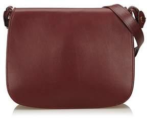 Cartier Vintage Leather Must De Shoulder Bag