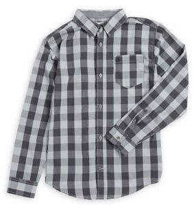 Calvin Klein Jeans Boy's Patterned Button-Down Shirt