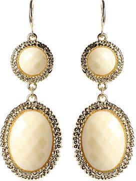 Amrita Singh White & Goldtone Gabby Drop Earrings
