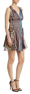 Carven Mixed Print Mini Dress