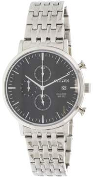 Citizen Men's AN3610-55E Silver Stainless-Steel Japanese Quartz Fashion Watch