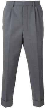 Ami Alexandre Mattiussi pleated carrot fit trousers