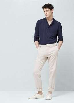 Mango Outlet Slim-fit cotton piqué shirt