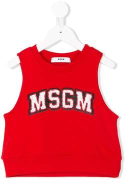 MSGM sequinned logo vest