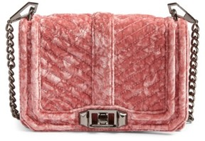 Rebecca Minkoff Small Love Velvet Crossbody Bag - Pink