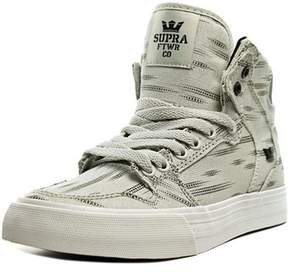 Supra Vaider D Youth Round Toe Canvas Gray Sneakers.