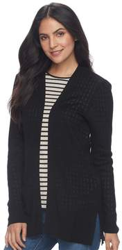 Croft & Barrow Women's Ribbed Open-Front Cardigan