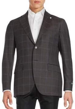 Lubiam Windowpane Wool Sportcoat