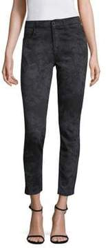7 For All Mankind Jen7 by Floral Laser Ankle Skinny Jeans