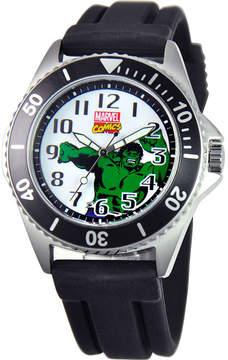 Marvel Disney Honor Mens The Hulk Black Silicone Strap Watch