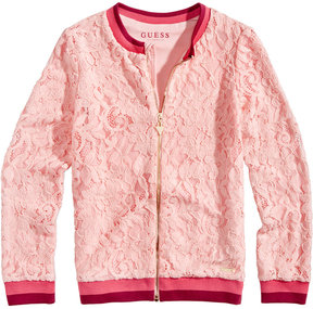 GUESS Lace Bomber Jacket, Big Girls (7-16)
