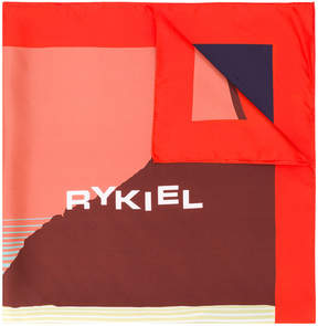 Sonia Rykiel abstract logo print scarf