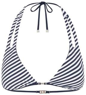 Heidi Klum Intimates | Sun Dappled Decadence Halter Final Clearance | Xs | Black iris/white stripes