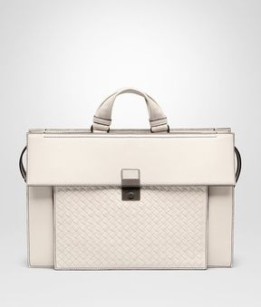 Bottega Veneta Mist Nappa Briefcase