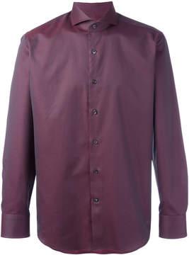 Canali woven pattern shirt