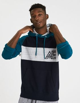 American Eagle Outfitters AE Colorblock Throwback Cotton Sweatshirt
