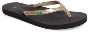 Sanuk Women's 'Yoga Joy' Metallic Flip Flop