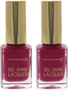Max Factor Twinkling Pink Gel Shine Nail Polish - Set of Two