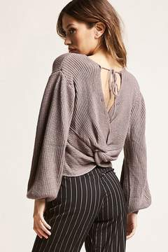 Forever 21 Ribbed Twist-Hem Sweater