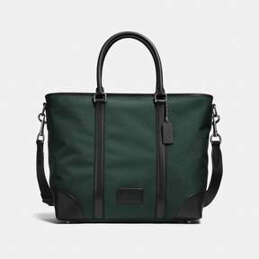 COACH Coach New YorkCoach Metropolitan Tote - BLACK ANTIQUE NICKEL/RACING GREEN/BLACK - STYLE